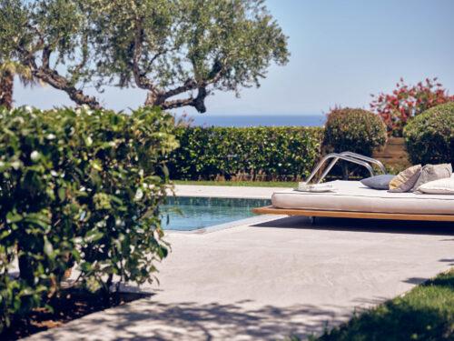 Pool area in Zakynthos best villa resort